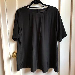 HATCH collection black blouse, sz 2 (M).